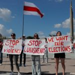 Belarus: Rival protests as Lukashenko claims NATO deployed to border