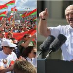 'I'm KNEELING for you,' Lukashenko tells supporters at a rally, warning Belarus will 'die as a country' if a repeat vote happens